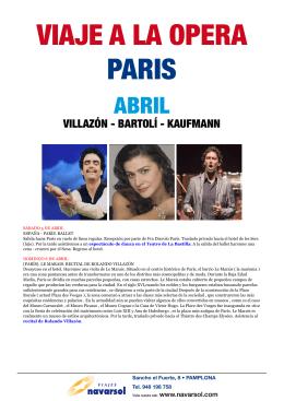 VIAJE A LA OPERA PARIS