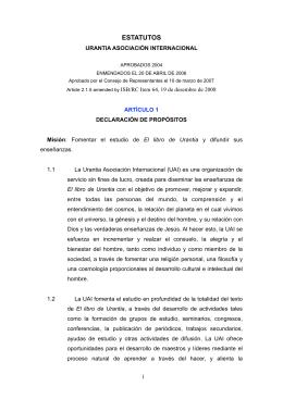 Estatutos UAI - Urantia Asociación Argentina