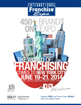 2014 International Franchise Expo