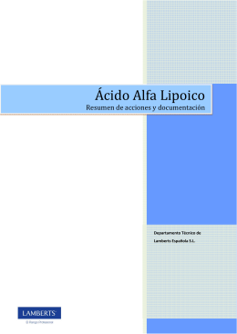 Ácido Alfa Lipoico - Lamberts Española