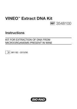 VINEO™ Extract DNA Kit - Bio-Rad