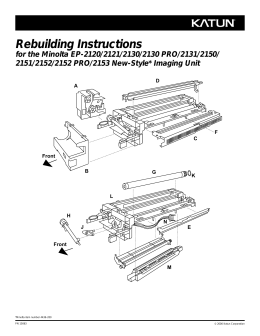 Rebuilding Instructions for the Minolta EP-2120/2121/2130