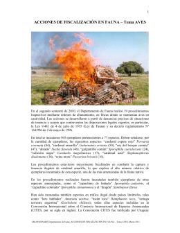 ACCIONES DE FISCALIZACIÓN EN FAUNA – Tema