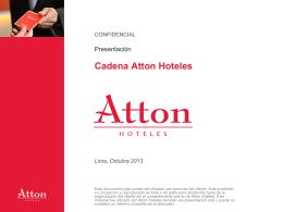 Presentación Cadena Atton Hoteles