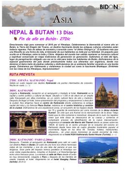 NEPAL & BUTAN 13 Días