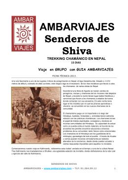 2013 FT SENDEROS DE SHIVA