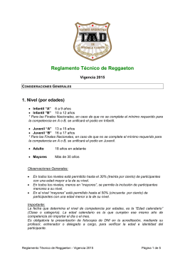 Reglamento Técnico de Reggaeton