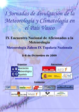 I Jornadas de divulgación de la Meteorología y Climatología en el