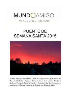 PUENTE DE SEMANA SANTA 2015