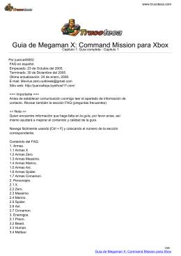 Guia de Megaman X: Command Mission para Xbox