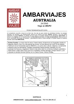 ambarviajes australia