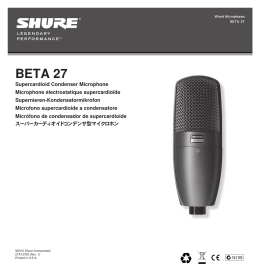 Shure Beta 27 User Guide