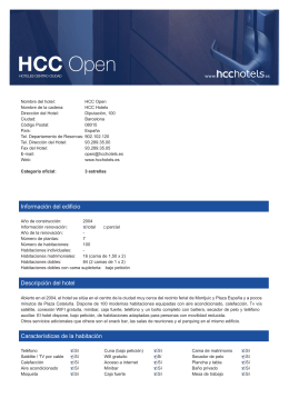 HCC Open - HCC Hotels