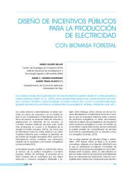 diseño de incentivos públicos para la producción de electricidad