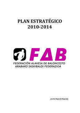 PLAN ESTRATÉGICO 2010-2014 - Federación Alavesa de Baloncesto