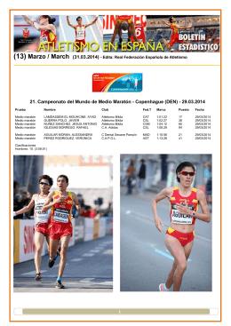 1 21. Campeonato del Mundo de Medio Maratón