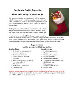 San Jacinto Baptist Association Rio Grande Valley Christmas Project