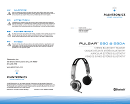 pulsartm 590 & 590a uk warning! fr attention ! es