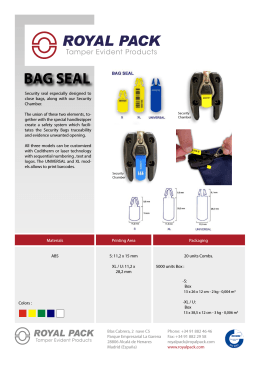 BAG SEAL - Royal Pack