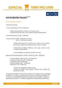 H10 RUBICÓN PALACE- LZ007
