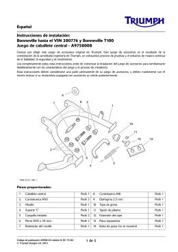 Español Instrucciones de instalación