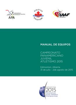 manual de equipos campeonato panamericano juvenil atletismo 2015