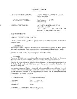 COLOMBIA - BRASIL 1. INSTRUMENTO BILATERAL