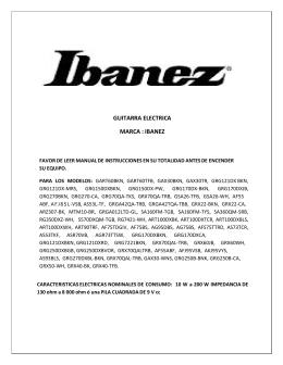 PDF GUITARRA ELECTRICA MARCA : IBANEZ
