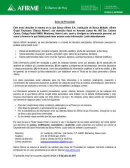 Este aviso describe la manera en la Grupo Financiero