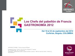 """presentacion de los """"chefs"""" - Ambassade de France en Colombie"""