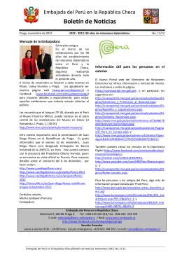 Boletín, noviembre 2012 - PDF - Embajada del Perú en la República