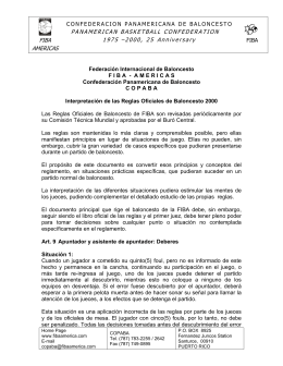 Interpretaciones de las Reglas (Sep 2000)