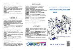 Progama Fiestas Tardienta 2015
