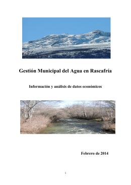 Gestión Municipal del Agua en Rascafría