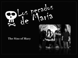 The Sins of Mary - Los Pecados De Maria