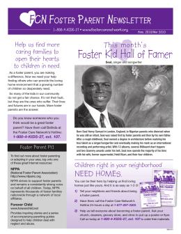Foster Kid Hall of Famer