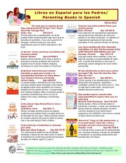 Libros en Espa Libros en Español para los Padres los Padres