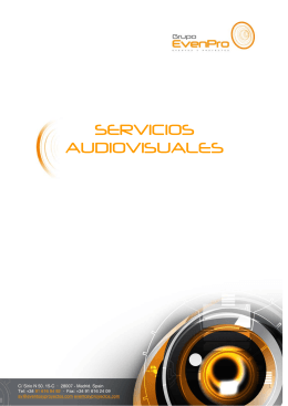 Dossier PDF - EVENPRO Eventos y proyectos