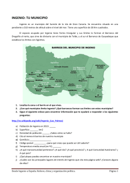 INGENIO: TU MUNICIPIO - Gobierno de Canarias