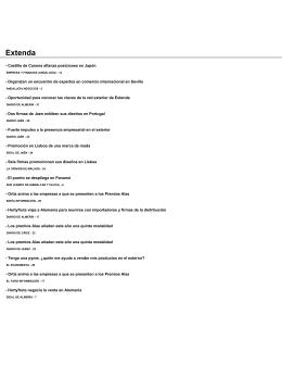 Dossier de Prensa: Extenda - Agencia Andaluza de Promoción