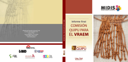 Informe Final Comision Quipu para el VRAEM