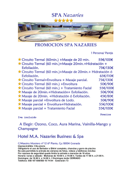 PAQUETES SPA NAZARIES
