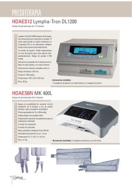 PRESOTERAPIA - Helios Electromedicina