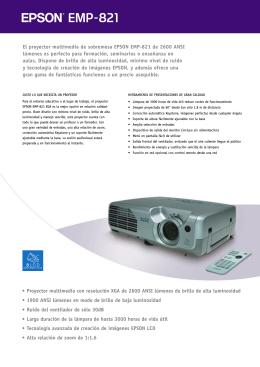 El proyector multimedia de sobremesa EPSON EMP-821