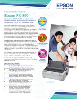 La impresora EPSON FX-890 es una impresora de alto rendimiento