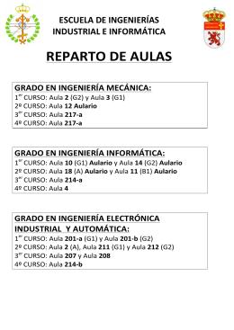 REPARTO DE AULAS