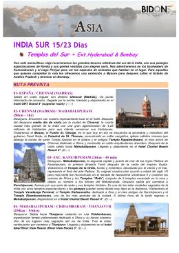 Templos del Sur + Ext.Hyderabad & Bombay