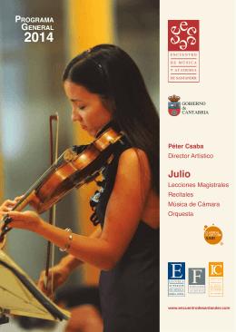 Edición 2014 - Encuentro de Música y Academia de Santander