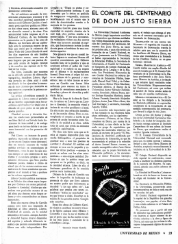OE .OO N J USTO` SIERRA - Revista de la Universidad de México