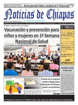 Vacunación y prevención para niños y mujeres en 1ª Semana